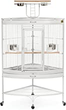 Prevue Hendryx Corner Parrot Signature Series Wrought Iron Bird Cage in White