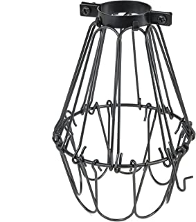 Rustic State Elegant Design Metal Wire Cage by Artifact Design for DIY Lighting Fixtures and Wall Pendant Lamps with Adjustable Cage Openings in Black