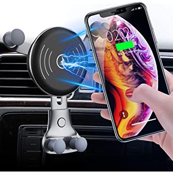 4351568326 Cellet 2-in-1 Wireless Charger Phone Holder Mount with Automatic Release and Lock Cradle for Air Vent and Dashboard Compatible for iPhone Xs//Xs Max//Xr//X//8//7// Samsung Note 9//8//5 Galaxy S9//S8// 10Watt
