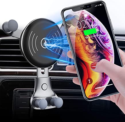 2019 Upgraded Wireless Car Charger Air Vent Phone Holder, 10W Compatible for Samsung Galaxy S10/S9/S9+/S8, 7.5W Compatible for iPhone Xs Max/Xs/XR