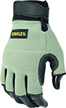 Stanley SY640L Fingerless Perfor. Handschoen L, zwart, L