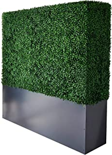 AGPL Artificial Boxwood Hedge Wall with Gray Color Planter Room Divider and Privacy Wall Backdrops (48