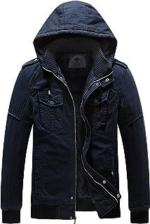 WenVen Men`s Winter Fleece Jacket with Hood Thicken Coat