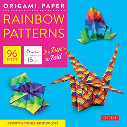 Origami Paper: Rainbow Patterns