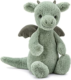 Jellycat Bashful Dragon Stuffed Animal, Medium, 12 inches
