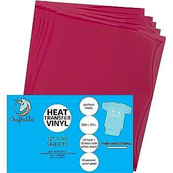 Craftables Yellow Vinyl Sheets Adhesive #45 Glossy /& Waterproof Permanent