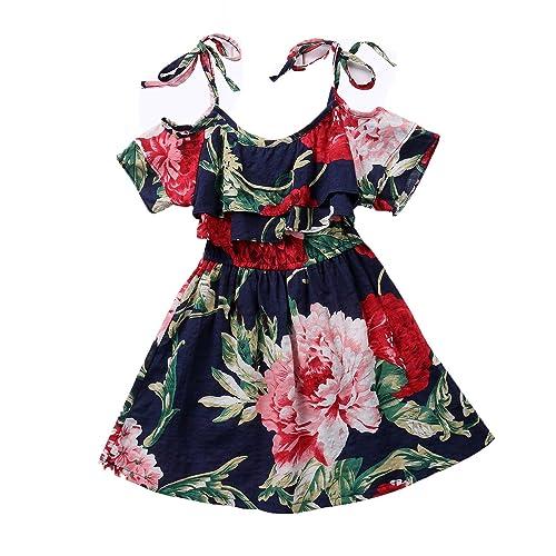 kids summer dress girls long beach wear childrens clothing top party casual cute