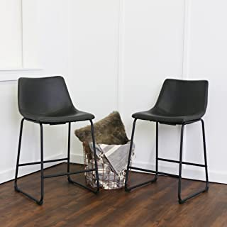 WE Furniture Dining Chairs, Counter, Black