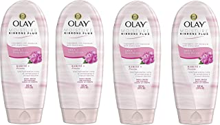 Olay Moisture Ribbons Plus Shea and Peony Blossom Body Wash (Pack of 4)