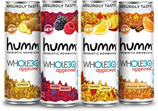 Sponsored Ad - Humm Whole30 Approved Probiotic Kombucha Variety Pack - The Only Whole30 Approved Kombucha. Absurdly Tasty....