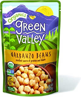 Green Valley Organics Garbanzo Beans Pouch, 15.5 Ounce (Pack of 12)