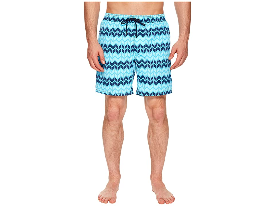 Mr. Swim Zig Zag Printed Dale Swim Trunks (Blue) Men