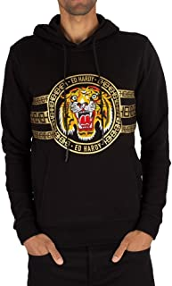 91595b778 Ed Hardy Embroidered Tiger Stripe Hoody Sweatshirt