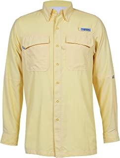 HABIT Men's Taku Bay Long Sleeve River Guide Fishing Shirt, Pale Banana, 2X-Large