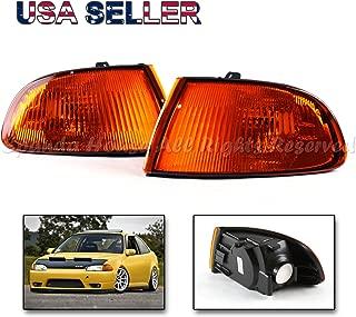 Fits 92-95 Honda Civic EJ1 EJ2 EG3 EH2 EH3 2-Door Coupe Hatchback Amber Front Bumper Corner Lights