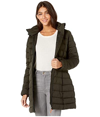 Save the Duck Sold 9 Puffer Coat with Detachable Hoodie (Green/Black) Women