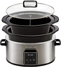 Crock-Pot Choose-a-Crock One Pot Slow Cooker | 5.6L Pot & 2.4L Pot with Dividers (Up to 8 People)| Keep Warm Function | St...