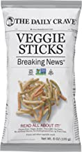 The Daily Crave Veggie Sticks, 6 Oz (Pack Of 8) Non GMO, Gluten Free, Kosher, Crunchy, Vegan
