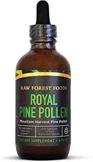 Royal Pine Pollen Tincture — Pure, Single Origin Mountain Harvest RAW Pine Pollen — Extra Strong, Fast Absorbing Pine Poll...