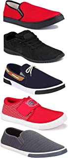 WORLD WEAR FOOTWEAR Sports Running Shoes/Casual/Sneakers/Loafers Shoes for Men Multicolor (Combo-(5)-1219-1221-1140-417-1018)