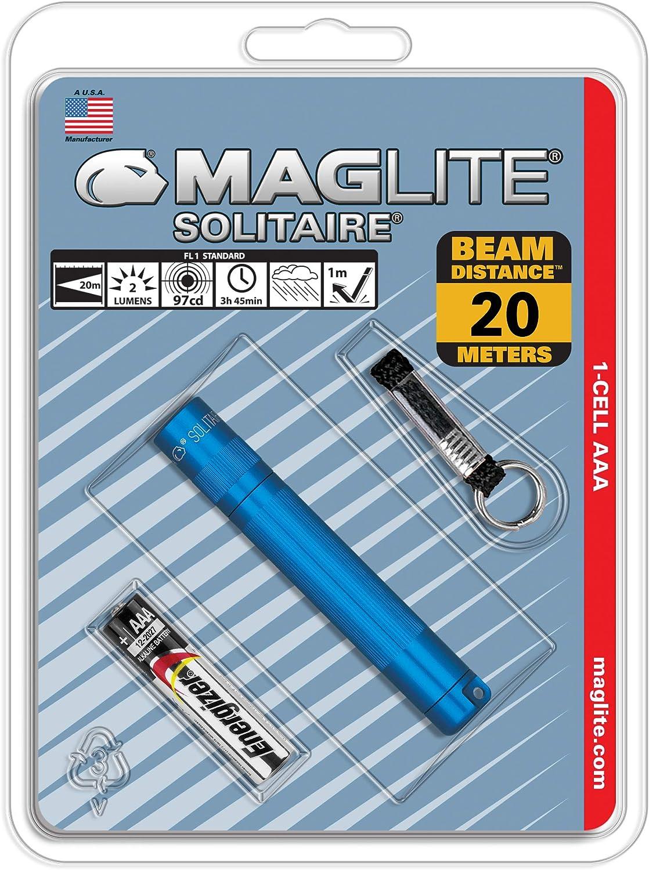 Mag Lite Solitaire Mini Taschenlampe Blau 8 Cm Beleuchtung