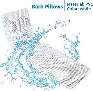 KR Bath Pillow Full Body,Non-Slip Cushioned Bathtub Pillow,Luxury 3D Air Mesh Spa Bathtub Cushion for Neck Head Shoulder and Back Support,Quick Drying Machine Wash Safe
