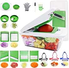 RTMAX Vegetable Chopper Mandoline Slicer Dicer Onion chopper Cutter & Grater Food, Fruit, Vegetables and Cheese Cutter, All In 1 Interchangeable Stainless Steel Blades slicer for Fruits Vegetables