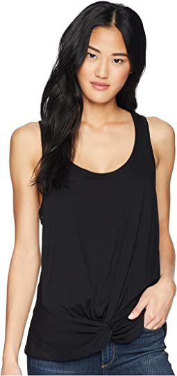 7 For All Mankind Twist Front Racer Tank Top