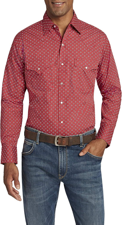 ELY CATTLEMAN Men's Long Sleeve Ditzy Print Shirt