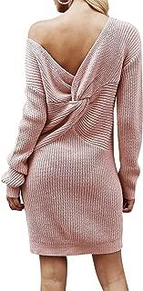 Best one shoulder sweater dress Reviews