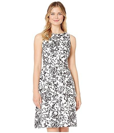 LAUREN Ralph Lauren Folade Sleeveless Day Dress (Lauren White/Black) Women
