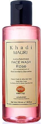 Khadi Mauri Herbals Rose Herbal Face Wash, 210ml