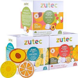 Zutec - Capsules de Jus Assortis (Orange, Ananas et Pêche) - Compatibles avec les machines à café Nescafé Dolce Gusto®* - ...