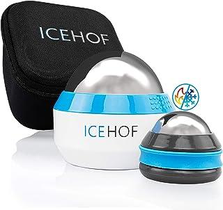 ICEHOF Lot de 2 boules de massage avec sac de rangement – Thérapie à froid / chaud – Balle d'auto-massage manuelle pour te...