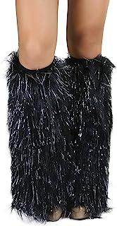 ToBeInStyle Women's Glitter Rave Leg Warmers
