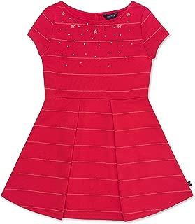 Nautica Girls' Holiday Party Short Sleeve Dress