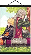 YIU Naruto Posters Jiraiya Shippuden Wall Scroll for Boys Room with 16in Wooden Magnet Hanger
