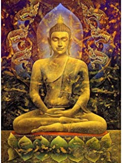 Buddha Statue Lotus seat 1000 Piece Puzzle Wooden Jigsaw Puzzles for Adults Kids, Large Educational Intellectual Paintings...