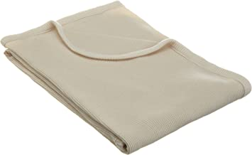 American Baby Company 30 X 40 Thermal/Waffle Swaddle Blanket Made with Organic Cotton, Natural Color, Soft Breathable, for Boys and Girls