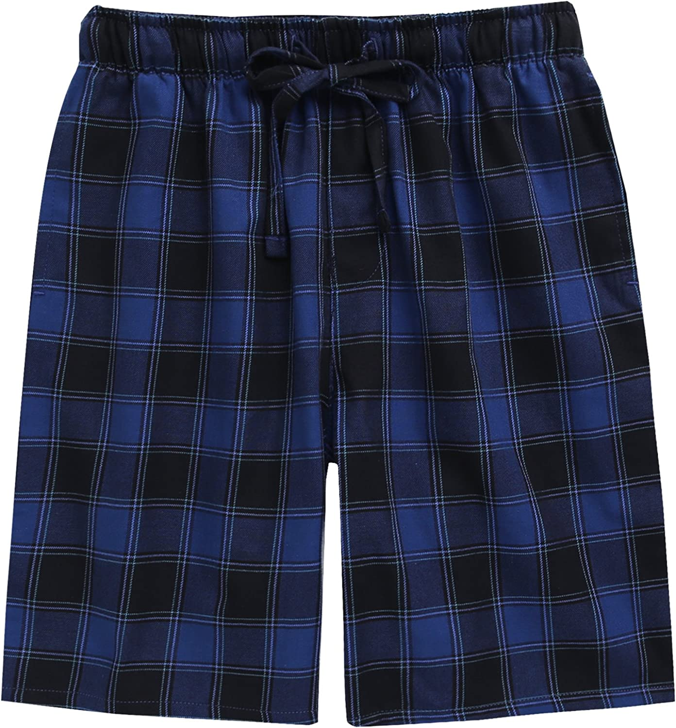 TINFL Cotton Lounge Pants for Men - 100% Woven Soft Cotton Plaid Check Lounger Sleeping Pajama Pants with Pockets