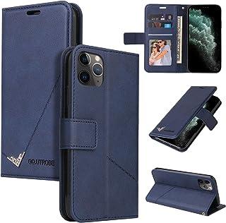 Lodroc LOYKB0600046 Hoesje voor iPhone 11 Pro Max van TPU-kunststof, magnetische beschermhoes met kaartenvak, standfuncti...