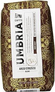 Caffe Umbria Fresh Seattle Whole Bean Roasted Coffee, Arco Etrusco Blend Dark Roast, 12 oz. Bag
