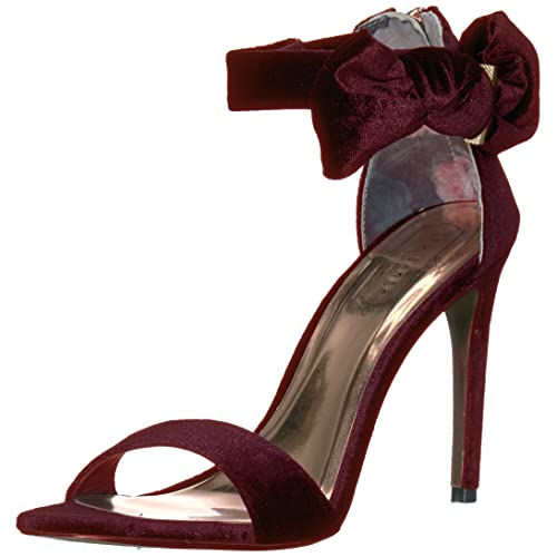 great discount sale street price rock-bottom price Burgundy Velvet Heels: Amazon.com