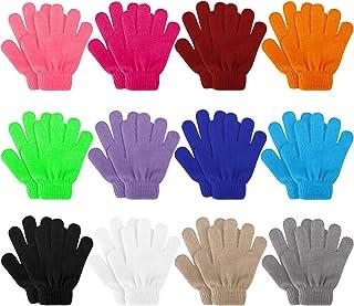 Kids Gloves, 12 Pairs Valentine's Day Winter Knit Gloves...