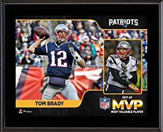 "Tom Brady New England Patriots 2017 NFL MVP 10.5"" x 13"" Sublimated Plaque - NFL Player Plaques and Collages"