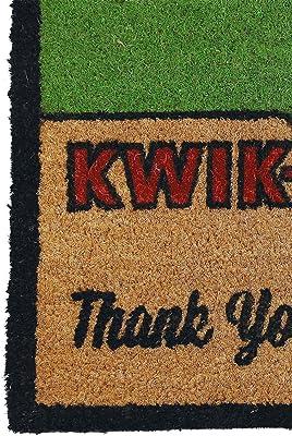 The Simpsons Felpudo con Dise&ntilde, Texto Kwik-E-Mart, Thank You, Come Again, de Poliuretano, Color marrón