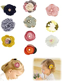 Baby Girl Hair Clips Bows Flowers,Hair Accessories for toddler Kids Teens