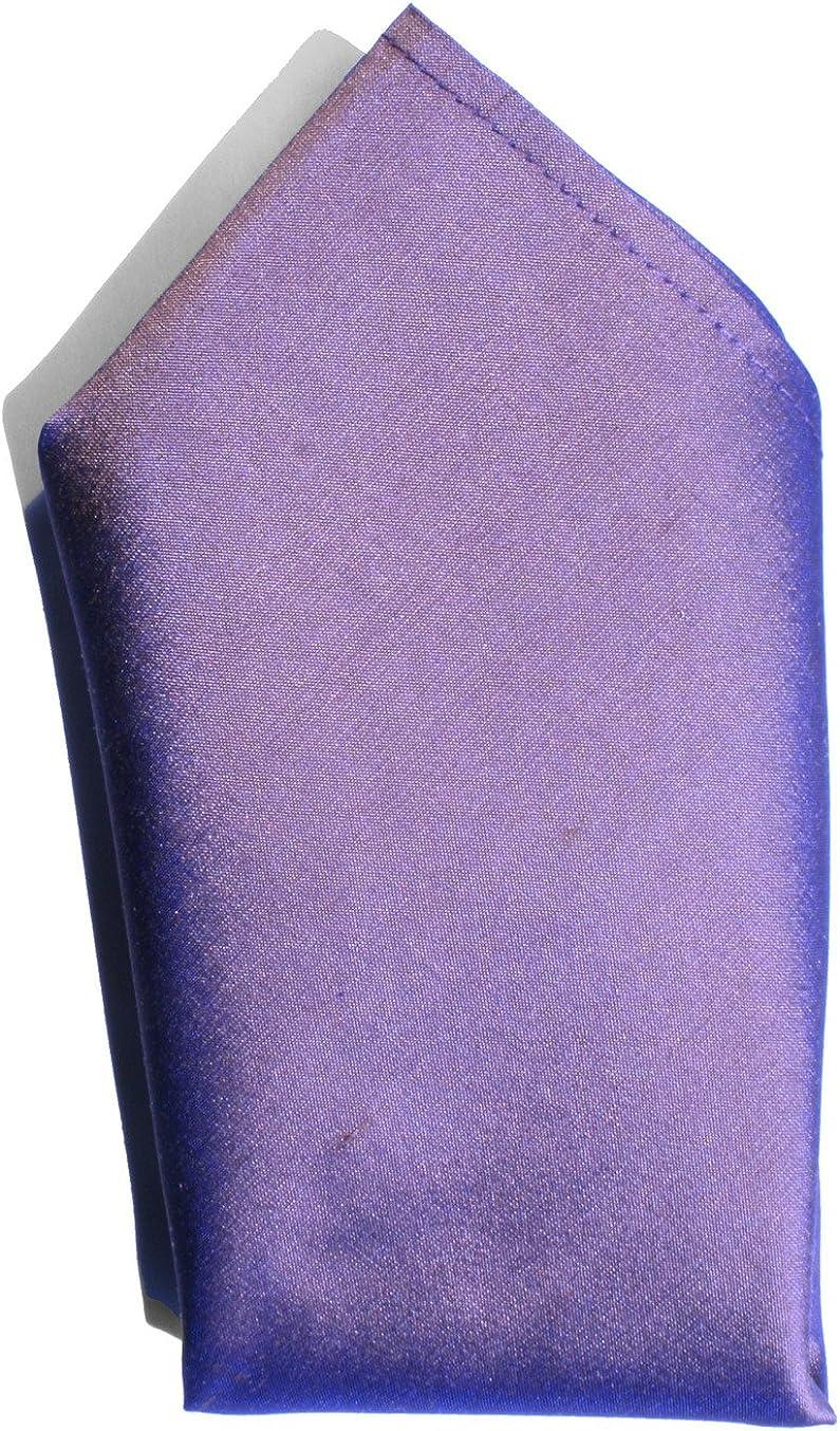 Iridescent Copper Lilac Dupioni Silk Handkerchief - Full-Sized 16