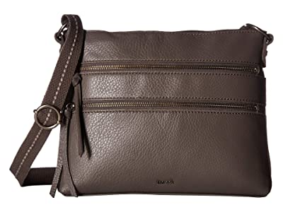 The Sak Reseda Leather Crossbody (Slate) Cross Body Handbags