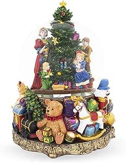 BestPysanky Children Decorating Christmas Tree Large Musical Snow Globe